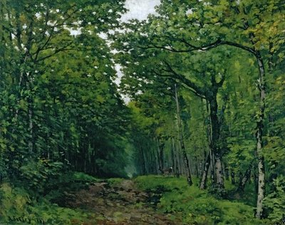 The Avenue of Chestnut Trees at La Celle-Saint-Cloud, 1867 (oil on canvas) Fine Art Print by Alfred Sisley