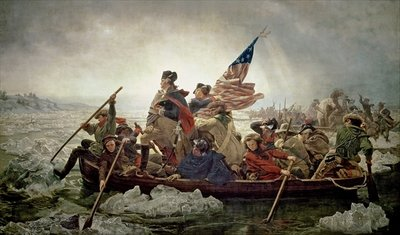 Washington Crossing the Delaware River, 25th December 1776, 1851 Fine Art Print by Emanuel Gottlieb Leutze