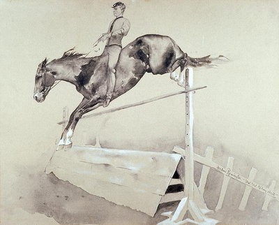 Jump Fine Art Print by Frederic Remington