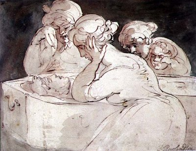 The Mourners, 1815 Fine Art Print by Thomas Rowlandson
