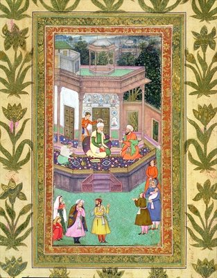 The Qazi, from the Small Clive Album Wall Art & Canvas Prints by Mughal School