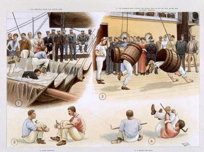 Sports, from 'P & O Pencillings' c. 1891 Fine Art Print by W. Lloyd