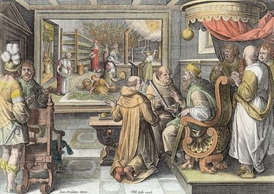 The Beginning of the Silk Industry in Europe, plate 9 from 'Nova Reperta' Fine Art Print by Jan van der Straet