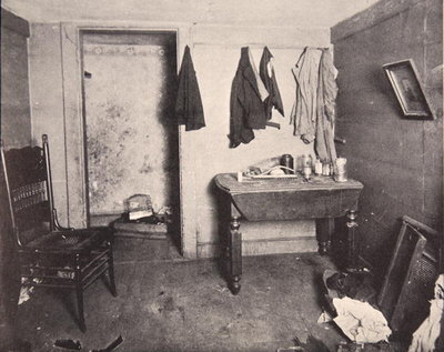 New York Tenement housing, 1890s Fine Art Print by American Photographer