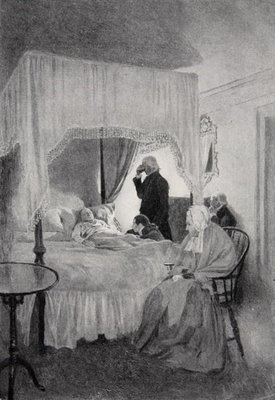 The Death of Washington at Mount Vernon, 14th December 1799 Fine Art Print by Howard Pyle