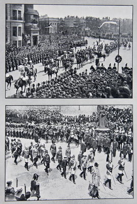 The Funeral of King Edward VII, May, from 'The Year 1910: a Record of Notable Achievements and Events', 1910 Fine Art Print by English Photographer
