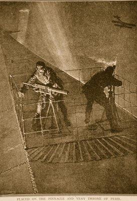 Placed on the pinnacle and very throne of peril: repelling enemy aircraft Fine Art Print by English School