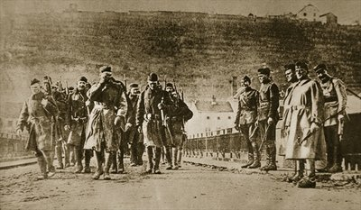 The Americans march into Germany, 1918 Fine Art Print by American Photographer