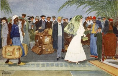 Globe Trotters, from 'The Light Side of Egypt', 1908 Fine Art Print by Lance Thackeray