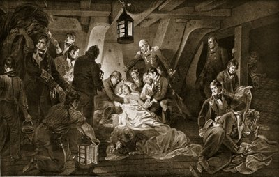 The Death of Nelson, 1805, illustration from 'Hutchinson's Story of the British Nation', c.1923 Poster Art Print by Anthony Devis