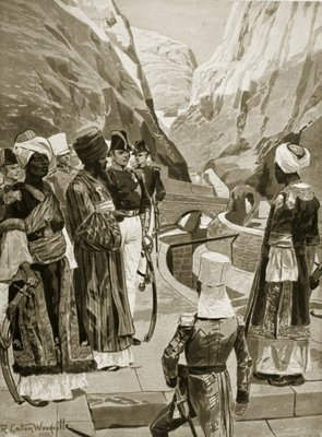British taking possession of Aden, 1879, illustration from 'Hutchinson's Story of the British Nation', c.1923 Fine Art Print by Richard Caton II Woodville