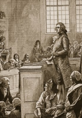 The trial of Louis XVI, illustration from 'Cassell's Illustrated History of England' Fine Art Print by English School
