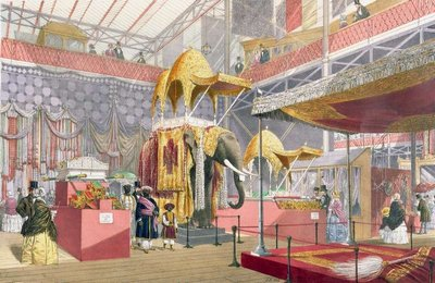 Crystal Palace, the Indian Court, pub. by Dickinson Bros. Fine Art Print by Joseph Nash