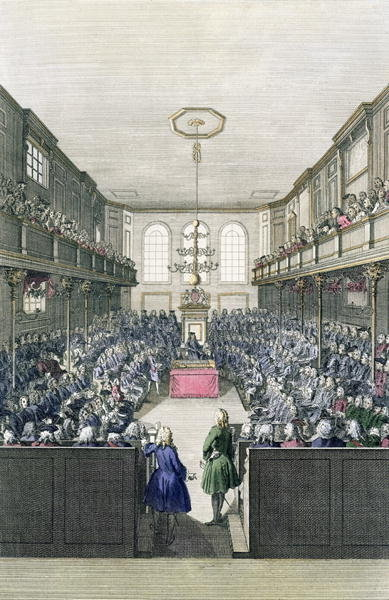 A View of the House of Commons, engraved by B. Cole Fine Art Print by English School