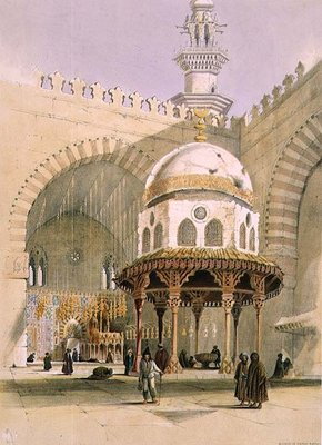 The Mosque of Sultan Hassan, Cairo, pub. 1846 Wall Art & Canvas Prints by A. Margaretta Burr