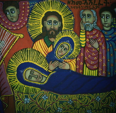 The Dormition of the Virgin Fine Art Print by Ethiopian School