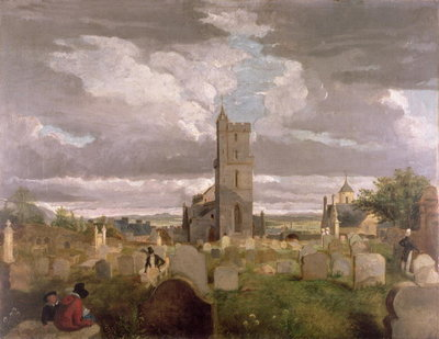 The Old Churchyard, Stirling, 1835 Wall Art & Canvas Prints by Robert Mitchell