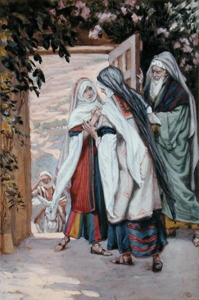 The Visitation, illustration for 'The Life of Christ', c.1886-94 Fine Art Print by James Jacques Joseph Tissot