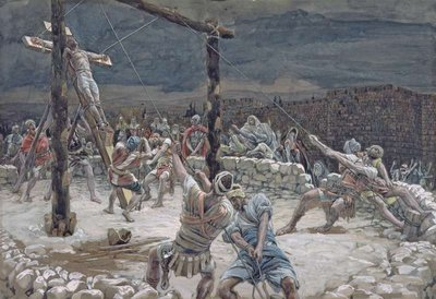The Raising of the Cross, illustration for 'The Life of Christ', c.1886-94 Fine Art Print by James Jacques Joseph Tissot