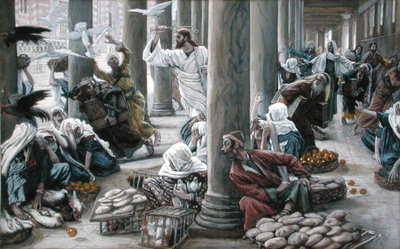 Christ Driving Out Them that Sold And Bought from the Temple, illustration for 'The Life of Christ', c.1884-96 Fine Art Print by James Jacques Joseph Tissot