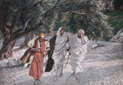 The Disciples on the Road to Emmaus, illustration for 'The Life of Christ', c.1884-96 Fine Art Print by James Jacques Joseph Tissot