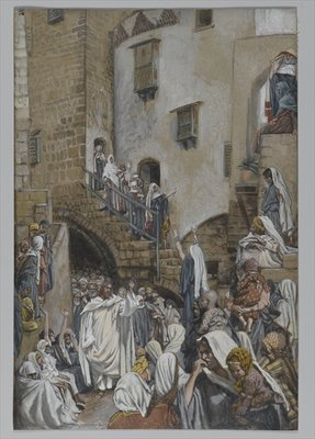 A Woman Cries Out in the Crowd, illustration from 'The Life of Our Lord Jesus Christ', 1886-94 Fine Art Print by James Jacques Joseph Tissot