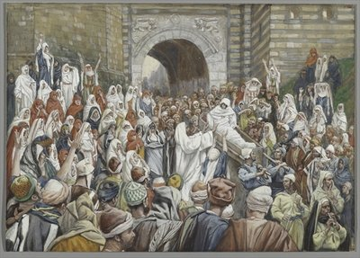 The Resurrection of the Widow's Son at Nain, illustration from 'The Life of Our Lord Jesus Christ' Fine Art Print by James Jacques Joseph Tissot
