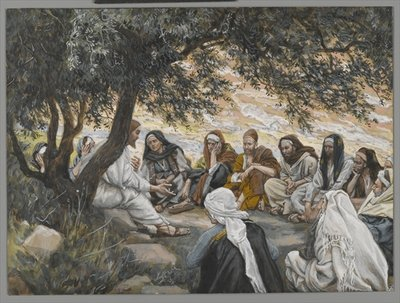 The Exhortation to the Apostles, illustration from 'The Life of Our Lord Jesus Christ' Fine Art Print by James Jacques Joseph Tissot