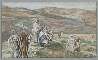 He Sent them out Two by Two, illustration from 'The Life of Our Lord Jesus Christ', 1886-96 Poster Art Print by James Jacques Joseph Tissot