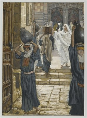 Jesus Forbids the Carrying of Loads in the Forecourt of the Temple, illustration from 'The Life of Our Lord Jesus Christ', 1886-94 Fine Art Print by James Jacques Joseph Tissot