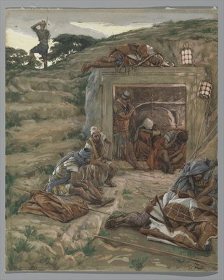 The Watch Over the Tomb, illustration from 'The Life of Our Lord Jesus Christ', 1886-94 Fine Art Print by James Jacques Joseph Tissot