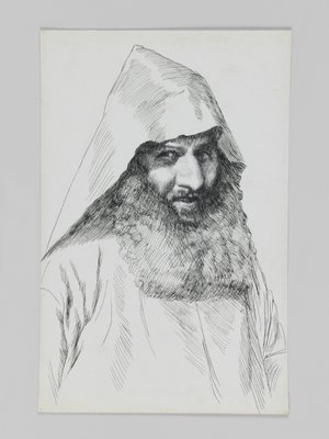 An Armenian, illustration from 'The Life of Our Lord Jesus Christ' (pen & ink on paper) Fine Art Print by James Jacques Joseph Tissot