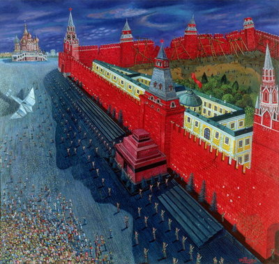 Red Square, 1988 Fine Art Print by Tamas Galambos