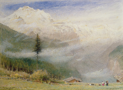 Jungfrau, 1913 Wall Art & Canvas Prints by Albert Goodwin
