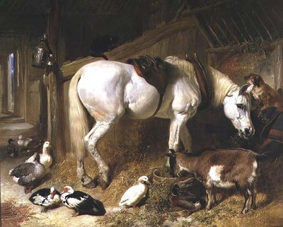 The Midday Meal, 1850 Fine Art Print by John Frederick Herring Snr