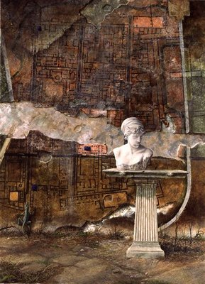 Herculaneum Site Plan, 1994 (oil on canvas) Fine Art Print by Trevor Neal