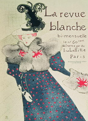 Poster advertising 'La Revue Blanche', 1890s Fine Art Print by Henri de Toulouse-Lautrec