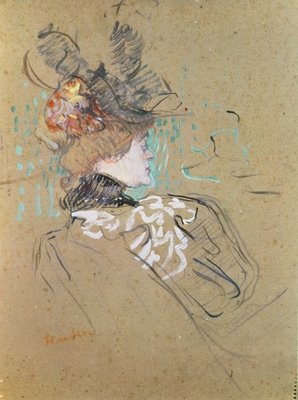 Profile of a Woman, 1896 Fine Art Print by Henri de Toulouse-Lautrec