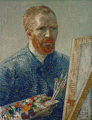 Self Portrait as an Artist, 1888 Poster Art Print by Vincent van Gogh