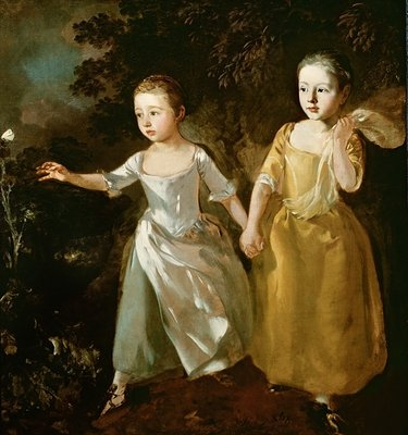 The Painter's Daughters chasing a Butterfly, c.1759 Fine Art Print by Thomas Gainsborough