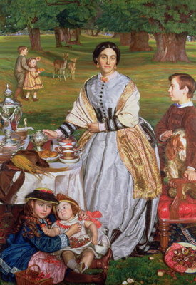 Lady Fairbairn with her Children, 1864 Postcards, Greetings Cards, Art Prints, Canvas, Framed Pictures, T-shirts & Wall Art by William Holman Hunt