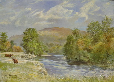 River Spey, Kinrara, 1989 Fine Art Print by Tim Scott Bolton