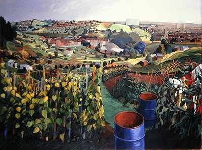 Allotments, St Wertburghs, Bristol Fine Art Print by Anna Teasdale