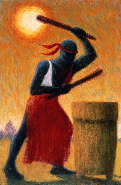 The Drummer, 1993 (oil on canvas) Wall Art & Canvas Prints by Tilly Willis