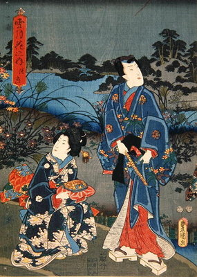 Moon from the Series 'Snow, Moon and Flowers', 1847-52 Fine Art Print by Utagawa Kunisada