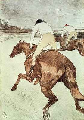 The Jockey, 1899 Postcards, Greetings Cards, Art Prints, Canvas, Framed Pictures, T-shirts & Wall Art by Henri de Toulouse-Lautrec