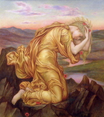 Demeter Mourning for Persephone, 1906 Wall Art & Canvas Prints by Evelyn De Morgan