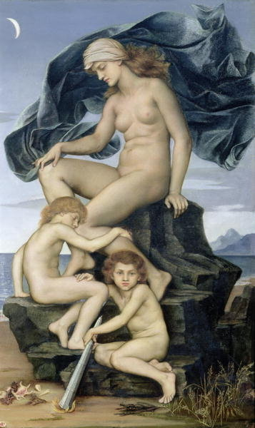 Sleep and Death, the Children of the Night, 1883 Wall Art & Canvas Prints by Evelyn De Morgan