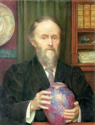Portrait of William de Morgan Fine Art Print by Evelyn De Morgan