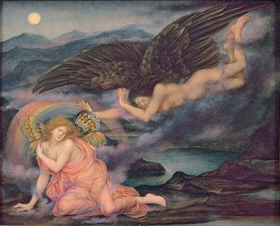 Death of a Butterfly, c.1905-10 Poster Art Print by Evelyn De Morgan